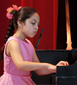 Talented Piano Student